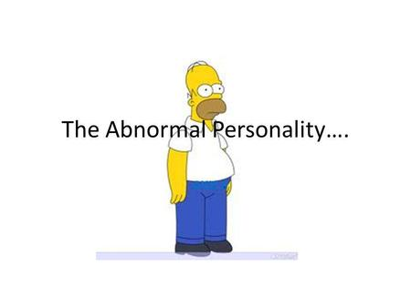 The Abnormal Personality…. AXIS II. Personality Disorders- What are they? Extremes of certain personality traits that interfere with social and emotional.