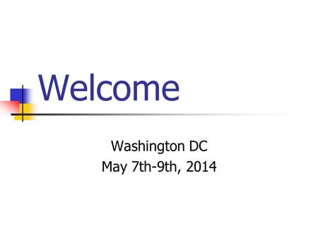 Welcome Washington DC May 7th-9th, 2014. Tonight we are going to: Give you information about student drop off and pick up. Give out packing guides and.