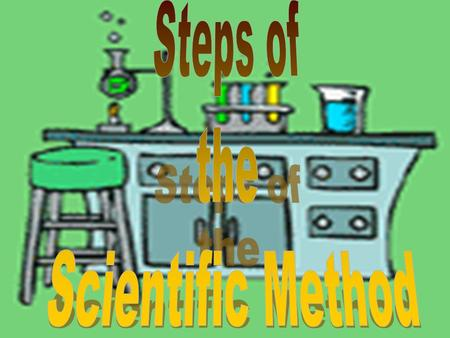 Steps of the Scientific Method Problem/Question 1. Problem/Question: Develop a question or problem that can be solved through experimentation.