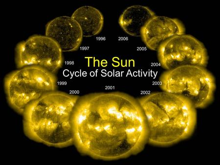 The Sun Cycle of Solar Activity. The Sun sohowww.nascom.nasa.gov.