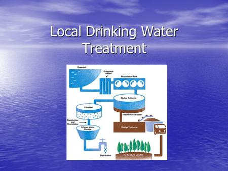 Local Drinking Water Treatment. Where Does Your Tap Water Come From? Your drinking water is processed by a company called Aquarion. Your drinking water.