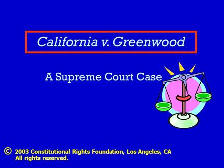 California v. Greenwood