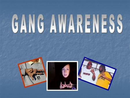 "Participants will be able to: -Define a ""gang"" -Identify gang structure -Identify the types of gangs -Examine reasons why kids join gangs."