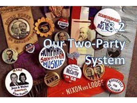 A Brief History Not a part of the Constitution – G. Washington warned against pol. Parties – He worried they would divide us Do they? From the beginning.