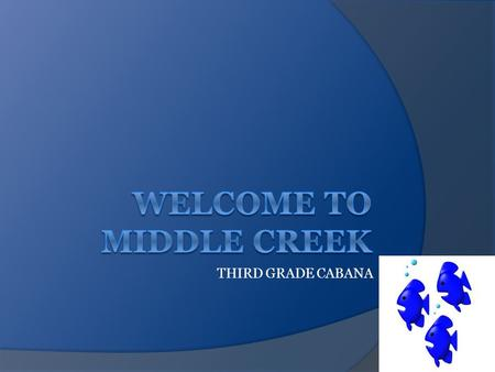 THIRD GRADE CABANA MCES THIRD GRADE STAFF  Track 1 – Lindsey Huml and Nancy Friend  Track 2 – Kim Tetterton and Alison Dreier  Track 3 –Karen DiGiacomo.
