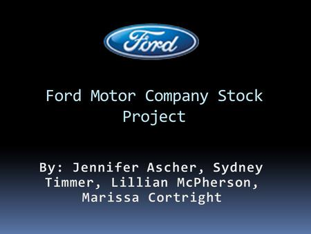 Ford Motor Company Stock Project In a 1 year period from March 2011 to March 2012, Ford stock went down a total of -16.3%. Although it went down by a.