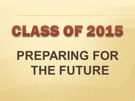 PREPARING FOR THE FUTURE. OBJECTIVES  To explore post high school options.  To understand the college application process.