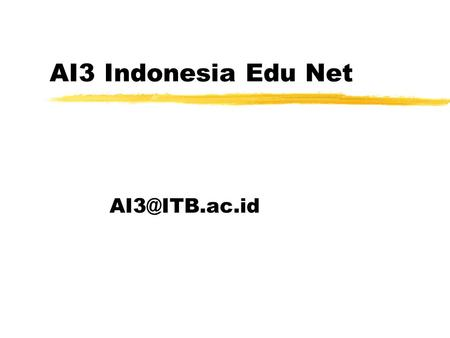 AI3 Indonesia Edu Net ID agriculture mailing list