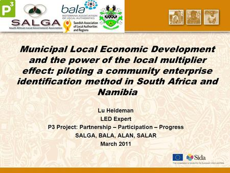 Municipal Local Economic Development and the power of the local multiplier effect: piloting a community enterprise identification method in South Africa.