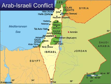 Arab-Israeli Conflict. Sykes-Picot Agreement 1916 Secret Agreement between France & Britain Defined the spheres of influence that France & Britain would.