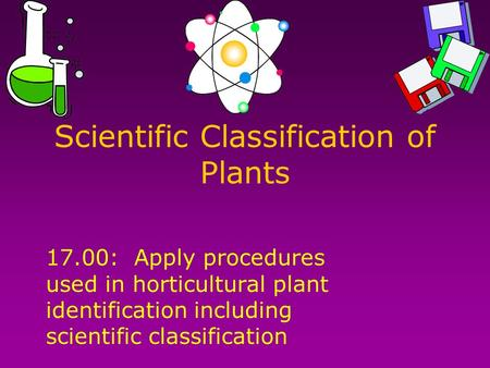 Scientific Classification of Plants