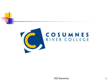 CRC Economics1. 2 Exercises Econ 304 Chapter 13 CRC Economics3 Do you know … how to calculate different types of profits? how to calculate and graph.