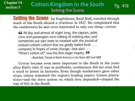 Cotton Kingdom in the South