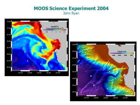 MOOS Science Experiment 2004 John Ryan. MOOS is an integrated array of observing resources and infrastructure being developed to advance ocean science.