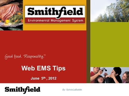 Web EMS Tips June 5 th, 2012 By: Sylwia LaBudde. A tool to help us electronically manage EMS and stay in compliance Full implementation is mandatory for.