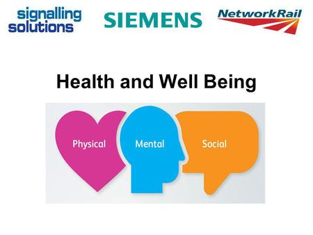 Health and Well Being. What does Health and Wellbeing mean to you?