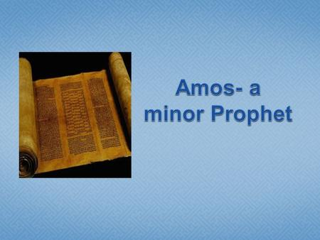 " ""The words of Amos, who was among the sheepbreeders of Tekoa, which he saw concerning Israel in the days of Uzziah king of Judah, and in the days of."