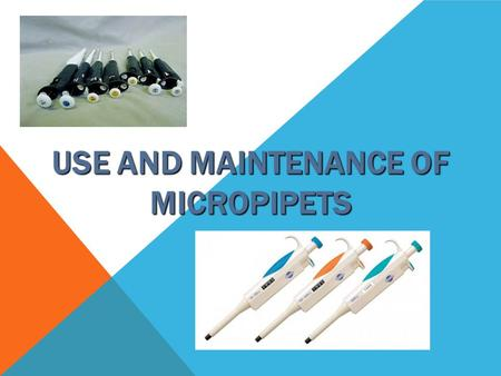 Use and Maintenance of Micropipets