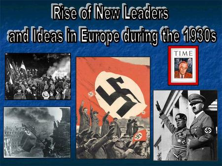 and Ideas in Europe during the 1930s
