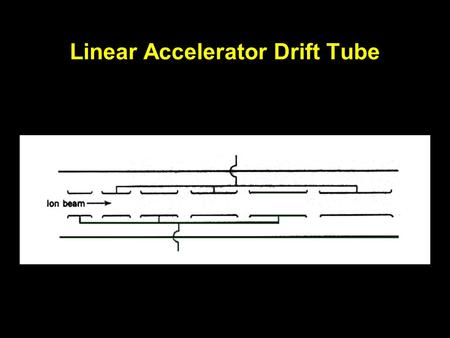 Linear Accelerator Drift Tube. Positive Ion Cyclotron Operation.