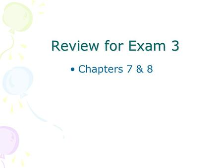 Review for Exam 3 Chapters 7 & 8. What is e-commerce? Exchange or buying and selling of products and services by electronic means.