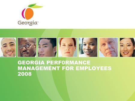 GEORGIA PERF0RMANCE MANAGEMENT FOR EMPLOYEES 2008