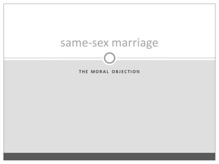 Definition of the same sex marriage