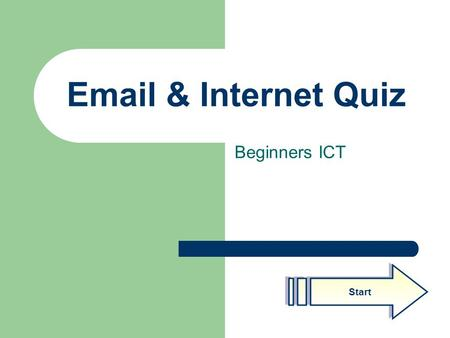 Email & Internet Quiz Beginners ICT Start. Created by Malcolm Fowler Q1 4 Software used to view the Internet 1 Library software 2 Email viewing software.