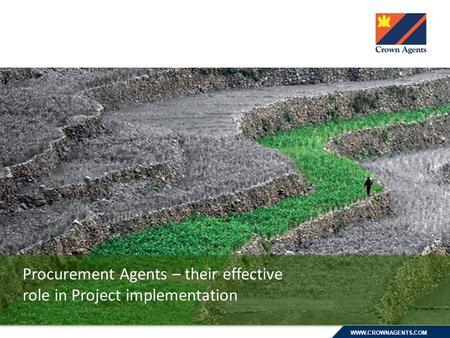 WWW.CROWNAGENTS.COM Procurement Agents – their effective role in Project implementation.