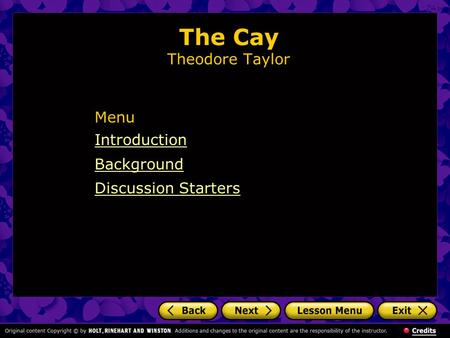 The Cay Theodore Taylor