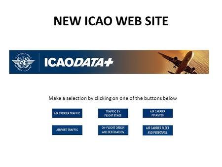 NEW ICAO WEB SITE Make a selection by clicking on one of the buttons below.