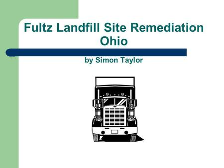 Fultz Landfill Site Remediation Ohio by Simon Taylor.