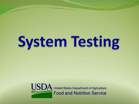 System Testing 2  Effective March 3, 2014, new requirements for system testing were implemented  State Agencies are now required to provide to FNS: