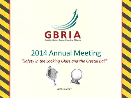 "2014 Annual Meeting ""Safety in the Looking Glass and the Crystal Ball"" June 12, 2014."