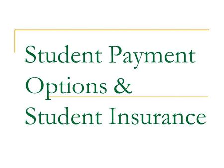 Student Payment Options & Student Insurance. Emergency Loans The Emergency Tuition and Fees Loan Program is a short-term loan in which students are attesting.