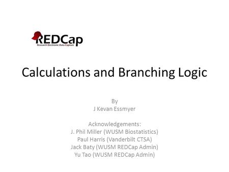 Calculations and Branching Logic