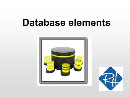 Database elements. RHS – 2009 2 Database elements A database can be compared to an old- fashioned file cabinet –The entire canibet is the database –A.