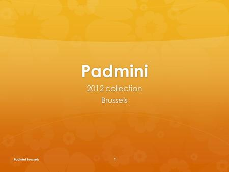 Padmini 2012 collection Brussels Padmini Brussels1.