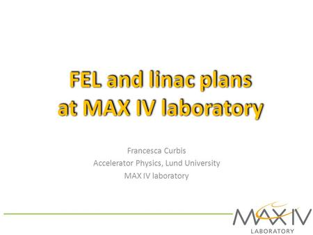FEL and linac plans at MAX IV laboratory
