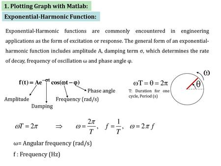 1  Plotting Graph with Matlab: - ppt download