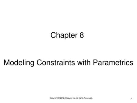 Modeling Constraints with Parametrics