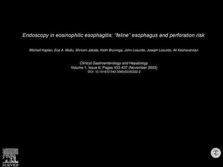 Advances In Clinical Management Of Eosinophilic Esophagitis