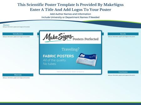 This Scientific Poster Template Is Provided By MakeSigns