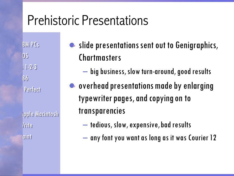 Prehistoric Presentations
