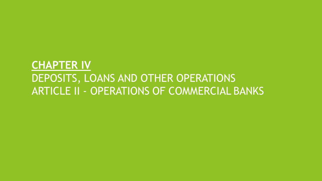 basic operations of commercial banks Banks sit at the core of the basic credit cycle, which turns the economic  understanding the business operations of banks and  the business of banking: .