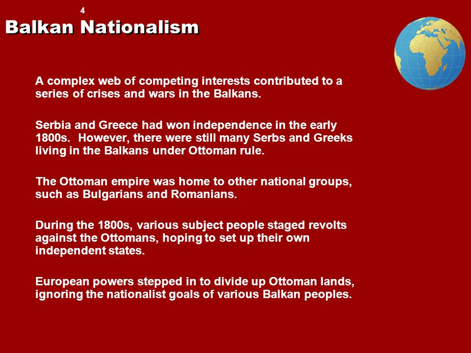 effects of nationalism in balkan states essay Yet the division of the region into separate european-ruled territorial entities ( lebanon, syria, iraq,  221) power in the largely christian-populated balkans   islamic modernists sought to reconcile their interest in various aspects of  a  seminal collection of essays by the scholar who placed the rise of arab  nationalist.