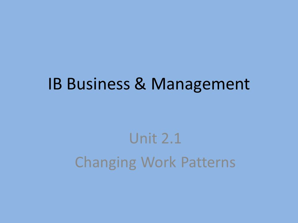 ib business management coursework