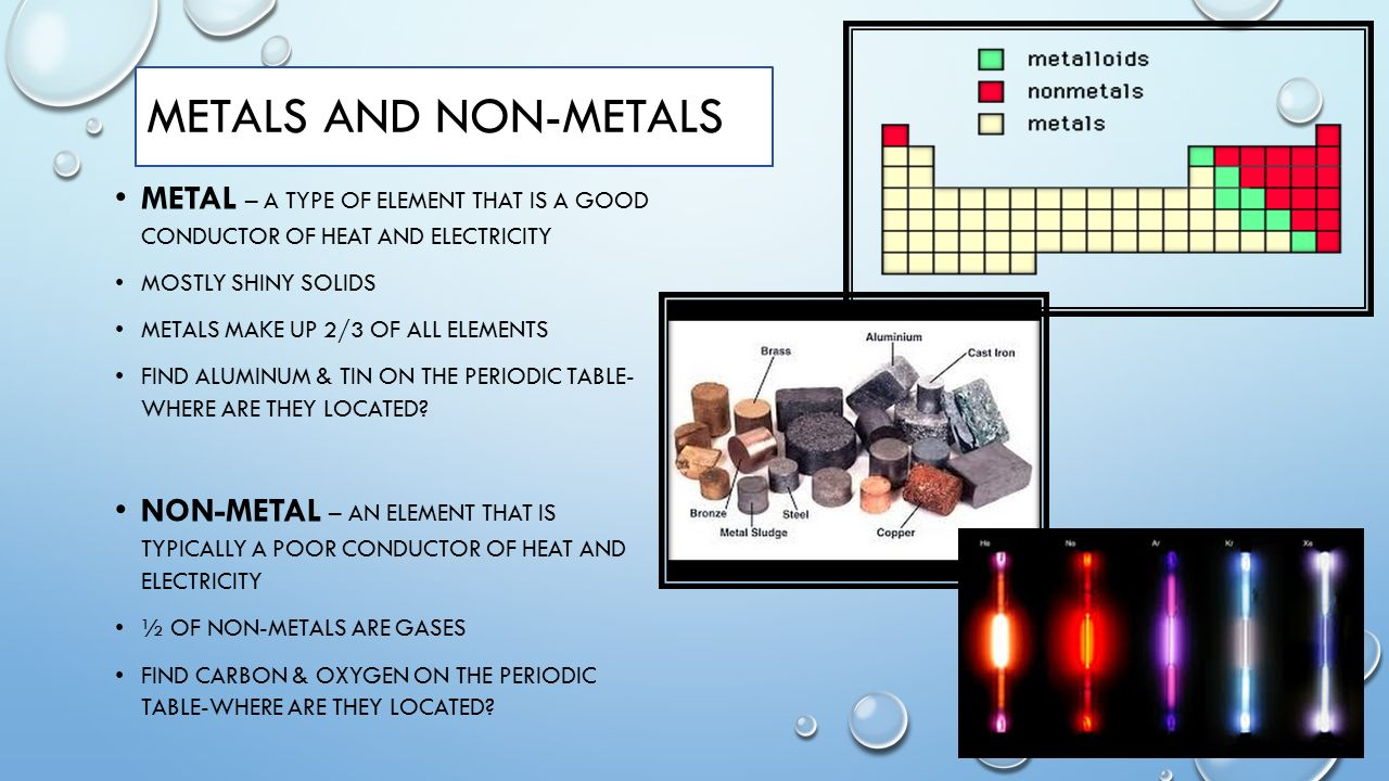 Chemistry unit ppt video online download periodic table of the elements 18 metals gamestrikefo Gallery
