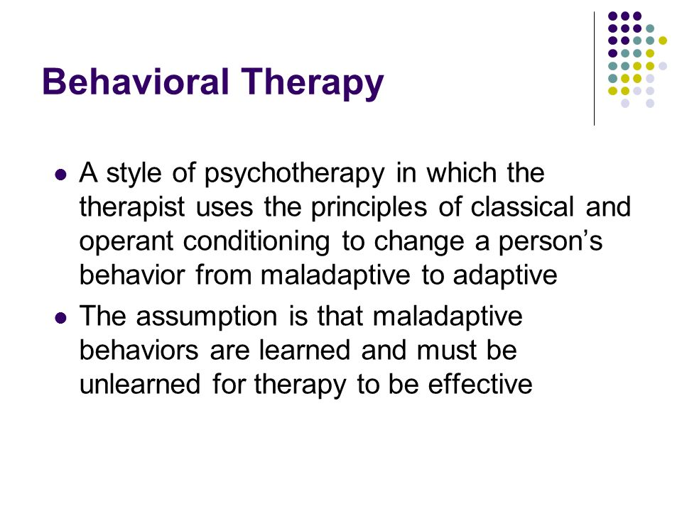 Behavioral Therapy