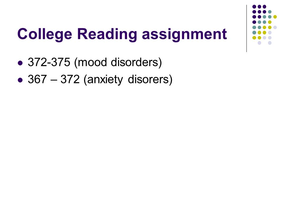 College Reading assignment